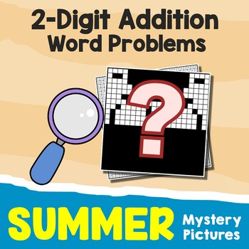 2-Digit Color By Number Addition Summer School Math Activities Mystery Pictures