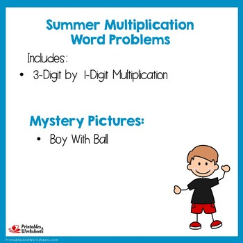 Math Problem Solving Summer Color By Number Multiplication Mystery Picture Sheet