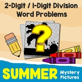 Summer 2-Digit by 1-Digit Division Word Problems