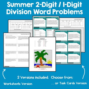 Math Riddles Summer Mystery Pictures Division Hidden Picture Coloring Sheets