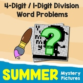Summer 4-Digit by 1-Digit Division Word Problems