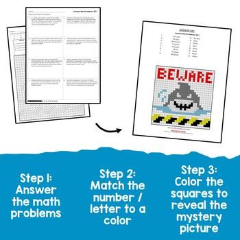 Understand Division Task Card Math Word Problem Summer Division Problem Sheets