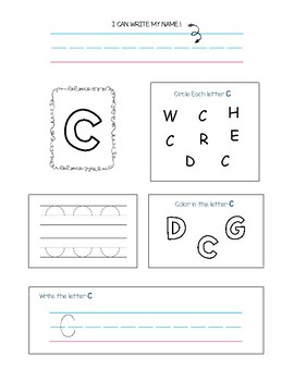 identidy, color and write upper case letters!