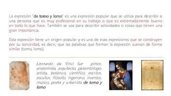 """idiomatic expression """"DE TOMO y LOMO"""""""