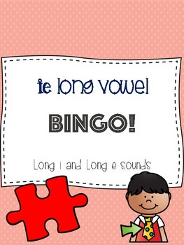 ie Long Vowel Bingo [long e and long i sounds]