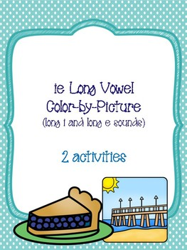ie Long Vowel Color-by-Picture [long i and long e sounds]