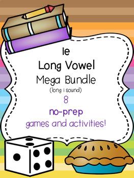 ie Long Vowel Mega Bundle (long i) [8 no-prep games and activities]