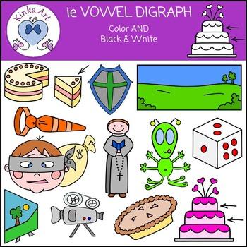 ie Vowel Digraph Clip Art