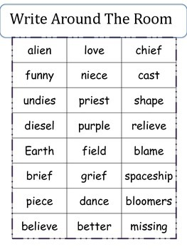 "Aliens Love Underpants - ""ie"" Pattern - Week Long Literacy Unit"