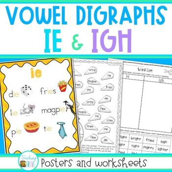 IE and IGH - long i sound by Teaching Trove | Teachers Pay Teachers