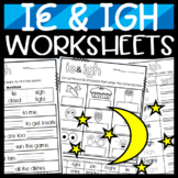 ie and igh worksheets! Cut and Paste Sorts, Cloze, Writing, and more!
