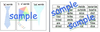 ie i-e ice sort phonics activity PHONIC SORTING
