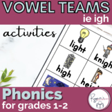 Long i ie igh Word Work Activities and an Assessment