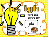 ie, igh Picture and Word Sort