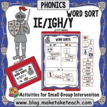 ie igh y Word Sort - File Folder Word Sorts