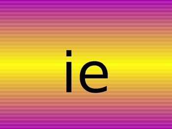 ie y i e alternate spelling of the same sound