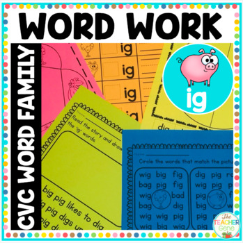 CVC Word Family 'ig' Word Work