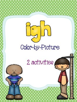 igh Long Vowel Color-by-Picture