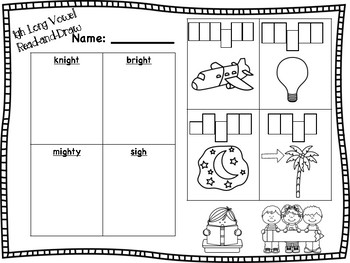 igh Long Vowel Read-and-Draw