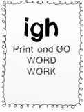 igh Print and Go Phonics Packet