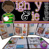 igh ie y:  Long i Phonics Games for Word Work or Centers