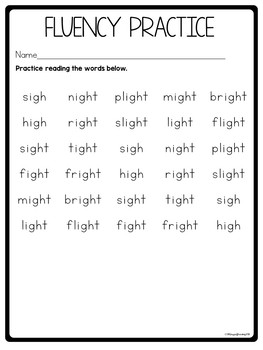 igh worksheets
