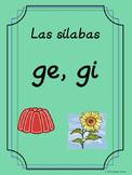 Bilingual Dual Language D'Nealian Silabas con ge, gi