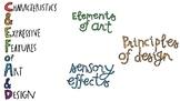 Illustrated Art Vocab ⎮ Elements of Art ⎮ Principles of De