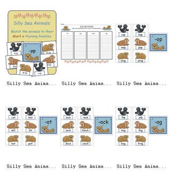 illy Sea Animals (Sorting Short o)