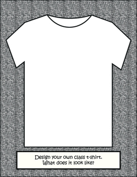 imagine! Coloring Page: Design a Class T-shirt
