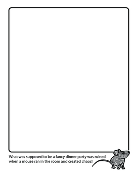imagine! Coloring Page: Mouse at a Fancy Dinner Party