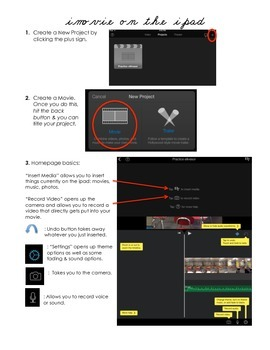imovie directions for the iPad