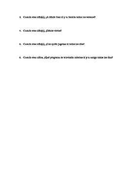 imperfect tense spanish quiz