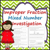 Improper Fraction and Mixed Number Investigation
