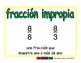 improper fraction/fraccion impropia meas 2-way blue/verde