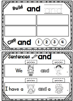 Dolch Sight Word Booklet - in (Pre-Primer)