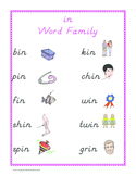 """""""in"""" word family set"""