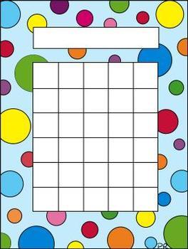 incentive charts - polka dots