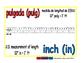 inch/pulgada meas 1-way blue/rojo