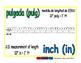 inch/pulgada meas 1-way blue/verde