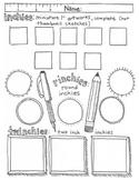 """inchies"" drawing activity, 2 sheets"