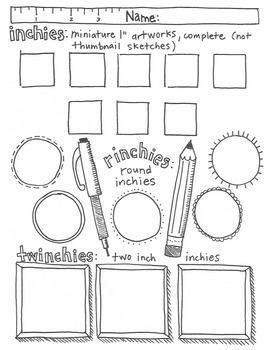 inchies x 3 drawing sheet