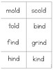 ind, old, ild, ost PHONICS BOARD Game