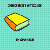 indefinite articles in Spanish/ articulos indefinidos en español.