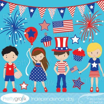 independence day clipart commercial use, vector graphics - CL536