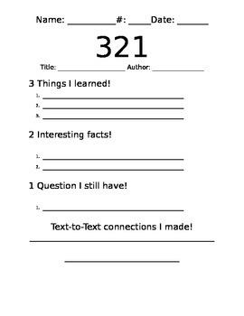informational text organizer