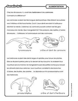 informations sur les dinosaures