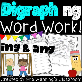 Digraph ng (ing & ang) - A Week of Lesson Plans, Activitie