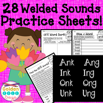 ing ang ong ung ank ink onk unk Word Families 28 No Prep Printables!