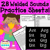 ing ang ong ung ank ink onk unk Word Sorts and Making Words! 28 No Prep!